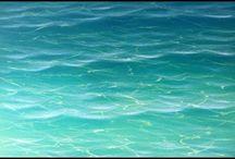 peindre la mer tropicale