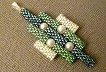 beaded tube beads / tube beads made with beads using peyote, brick stitch, tubular peyote, etc.