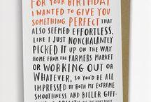 Tekst til bursdagskort