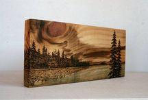 Arta pe lemn / din lemn - Art on wood /of wood