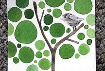 Quilt blocks -leaves