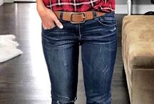 plaid shirt + boots