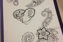 My work / Disegni mandala,dot-work  acquerello