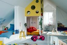 Boys room / Ideas for my sons room with a slanted roof