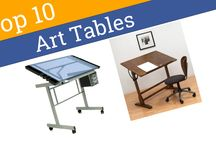 Studio Designs Craft and Hobby Tables / These tables offer storage trays for small craft and hobby items.  A variety of options are available for your art studio.  Choose the size, color, or style that fits you. #StudioDesigns