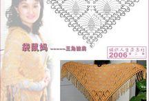 Crochet: omslagdoeken, sjaals etc.