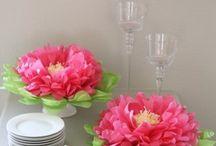 flores en papel seda