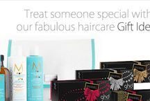Haircare Gift Ideas / Treat someone special with our fabulous haircare gift ideas at Riah Hair Shop.  Click and Collect in salon. FREE DELIVERY over £45.