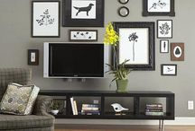 How to wall-mount a flat screen TV / Because a flat screen TV doesn't have a bulky picture tube, it's possible to mount it on the wall just like a painting.  #Skilhelps