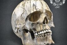 Hand Carved Tamarind Wood Skull THB07 / Find This Skull on Etsy