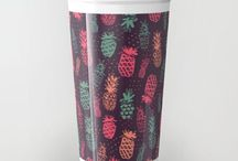 """Society6 TravelMug / Take your coffee to go with a personalized ceramic travel mug. Double-walled with a press-in suction lid, the two-piece (12oz) design ensures long lasting temperatures while minimizing the risk of spillage from kitchen to car to office. Standing at just over 6"""" tall with wrap around artwork, safely sip hot or cold beverages from this one of a kind mug."""