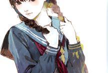 소녀수채화