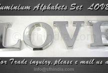 SAND CAST ALUMINIUM ALPHABETS / SUPER FINE HANDICRAFTS - manufactures sand cast aluminium alphabets as per customer requirements.Our New Collection - LOVE !  JOY ! PEACE !