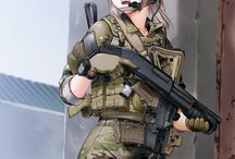 anime FEM soldiers