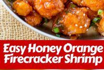 honey fire cracker shrimps