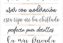Fuentes tipográficas
