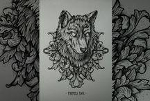Familly Ink Tattoo / Немножко эскизов :з