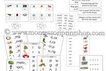 Montessori Step 2 Language Series / A great selection of printable language materials with 4+ letter (4 - 8 letters) phonetic words. We recommend the completion of our Step 1 Language Series prior to starting Step 2. / by Montessori Print Shop