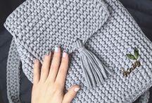 Knitted small handbag