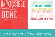 FREE PRINTABLES & FREE WALLPAPERS