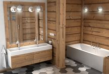 Bathroom with Luxum products