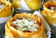 muffin tin lasagne