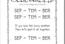 Preschool September Poems/Songs & Activities