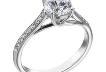 """Wedding Style - Pavé / The French word for """"paving,"""" a pavé setting is one in which the diamonds are set close together to make the ring look paved in diamonds, with as little of the metal showing as possible."""