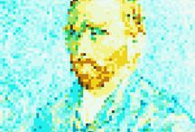 PIXEL ART / Full HD 5000 px - 300 dpi / The greatest masterpieces of painting in Pixel Art / les plus grands chefs d'oeuvres de la peinture en Pixel Art