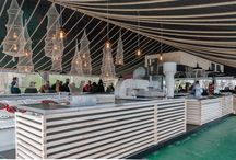 Targ rybny - Statek Ładoga, Szczecin / Projekt i wyposażenie targu rybnego na statku Ładoga w Szczecinie // Design and implementation of fish market on ship Ladoga in Szczecin, Poland