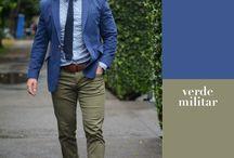 combinación color masculino
