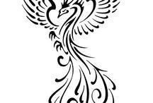Tatuaż-feniks / wzory feniksa