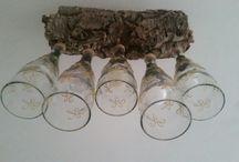 My chandelier from vine bottles