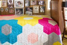Large hexie quilt ideas