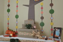 Backdrop Inspiration / Perfect for woodsy first birthday setup