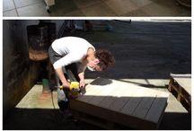 Utendørs / Møbler av paller, diy, snekring etc