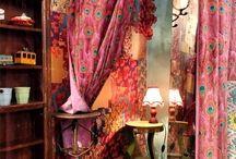 Boho dressing room
