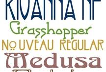 Art nouveau fonts