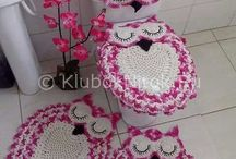 Szydełkowe dekoracje do łazienki