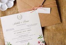 Convites Florais para Casamento