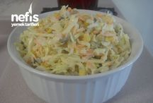 Beyaz lahana havuç salatasi