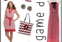 Alabama Game Day Dress Ideas / Alabama Game day dress looks in high southern style. Show off your Bama team spirit in stylish crimson and cream apparel with cute complementing accessories from TotallyCollegiate.com. Click on the photos for more Alabama game day apparel ideas and more! / by TotallyCollegiate.com
