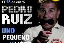 """Estreno solidario nuevo espectáculo de Pedro Ruiz / El 15 de enero tendrá lugar el estreno del nuevo espectáculo de Pedro Ruiz, """"Uno, pequeño y libre"""", cuya recaudación será íntegra en beneficio de los afectados por enfermedades raras: http://www.todossomosraros.es/acciones-difundelas/item/estreno-solidario-del-nuevo-espect%C3%A1culo-de-pedro-ruiz-por-las-enfermedades-raras.html"""