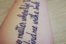 Tattoos... / by Katelyn Pervis