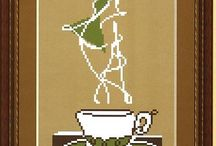 Coffee/kaffi, tea/te