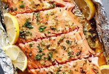 Honey and garlic salmon