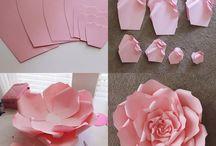 flores papel y tela
