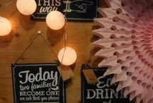 Weddingdecoratie / Weddingdecoratie