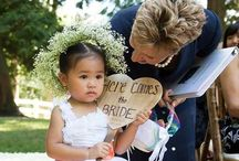 """Seattle Flower Girls - cute, sweet and """"on ths job!"""" / Photos taken at Seattle/Northwest area weddings of the cutest flower girls ever!"""