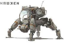 Mech robot kendaraan